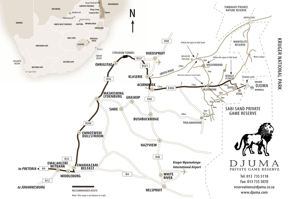 Djuma Directions Map New